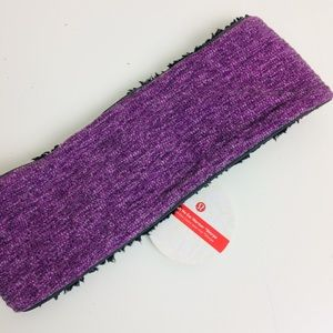 Lululemon Run With Me Ear Warmer Head Band Sherpa